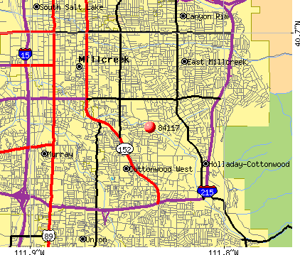 Holladay, UT (84117) map