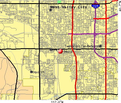West Valley City, UT (84118) map
