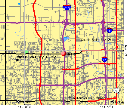 West Valley City, UT (84119) map