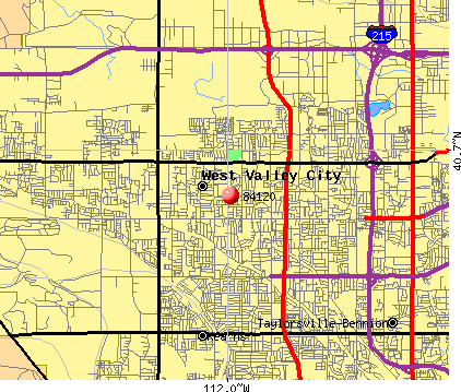 West Valley City, UT (84120) map