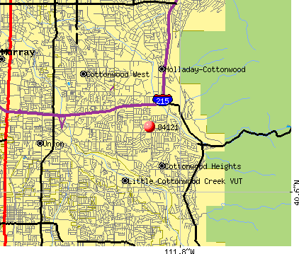 Cottonwood Heights, UT (84121) map