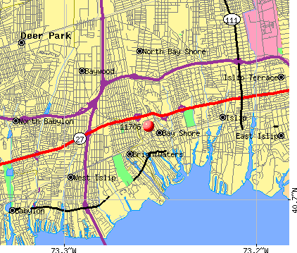 Bay Shore, NY (11706) map