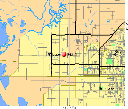 Hooper, UT (84315) map