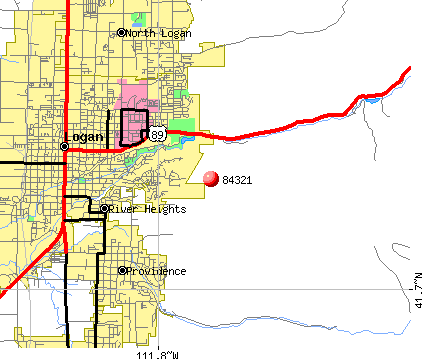 Logan, UT (84321) map