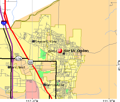 North Ogden, UT (84414) map