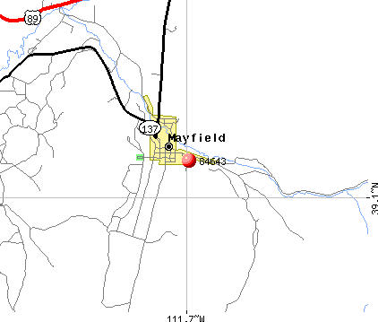Mayfield, UT (84643) map