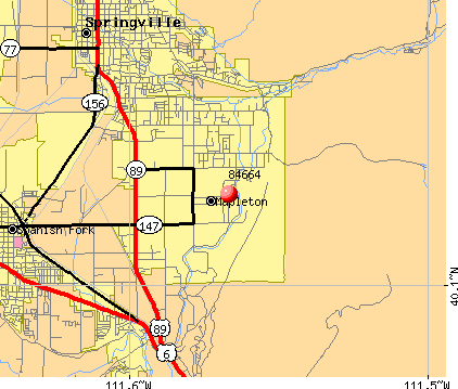 Mapleton, UT (84664) map