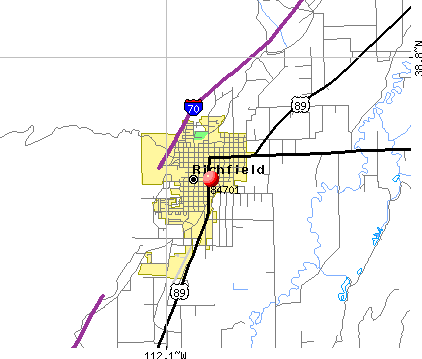 Richfield, UT (84701) map