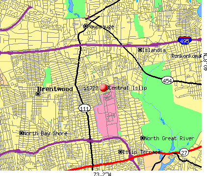 Central Islip, NY (11722) map