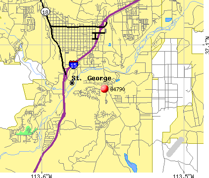 St. George, UT (84790) map