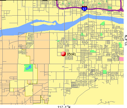 Phoenix, AZ (85041) map