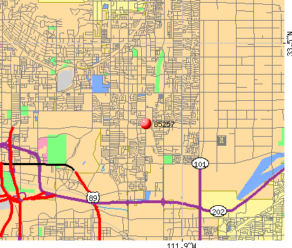 Scottsdale, AZ (85257) map