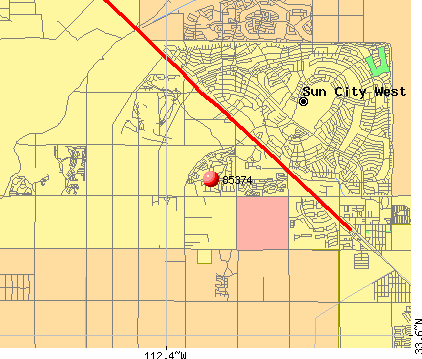 Surprise, AZ (85374) map