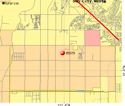 Surprise, AZ (85379) map