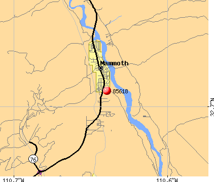 Mammoth, AZ (85618) map
