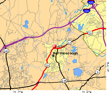 Northborough, MA (01532) map