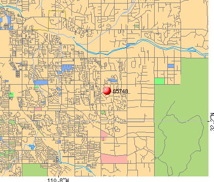 Tucson, AZ (85748) map