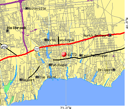 East Patchogue, NY (11772) map