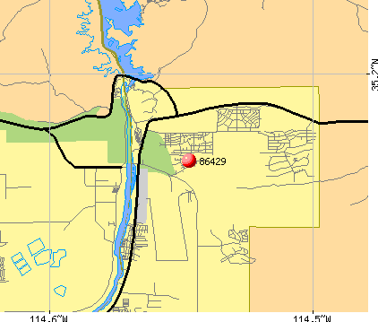 Bullhead City, AZ (86429) map