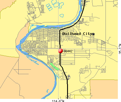 Bullhead City, AZ (86442) map