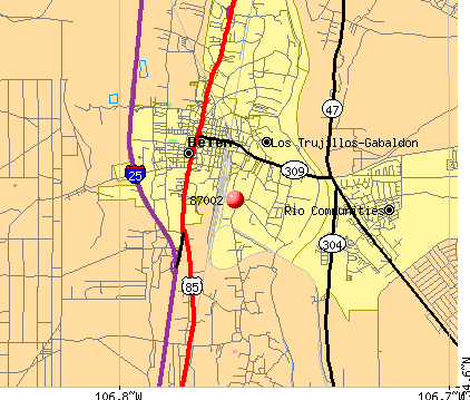 Los Chaves, NM (87002) map