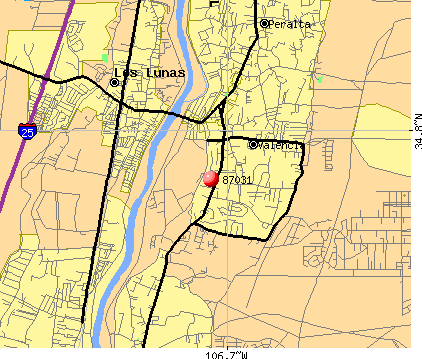 Los Lunas, NM (87031) map