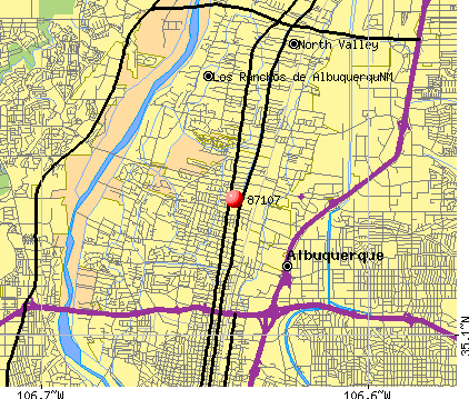 Albuquerque, NM (87107) map