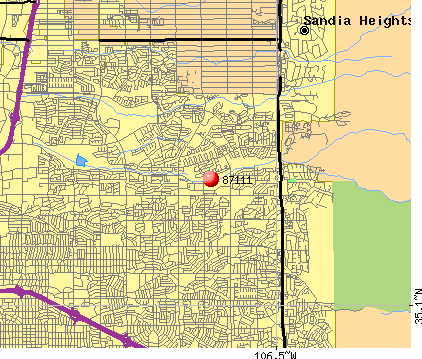 Albuquerque, NM (87111) map