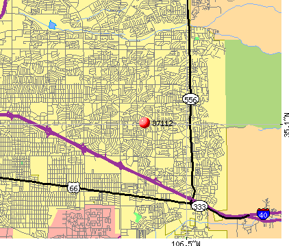 Albuquerque, NM (87112) map