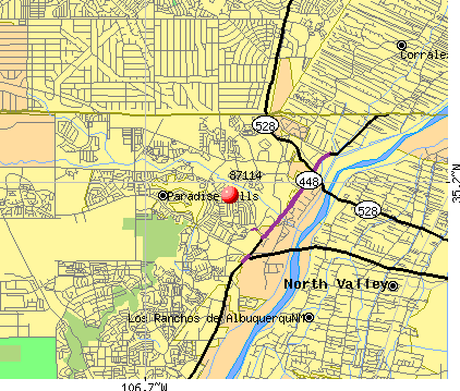 Albuquerque, NM (87114) map