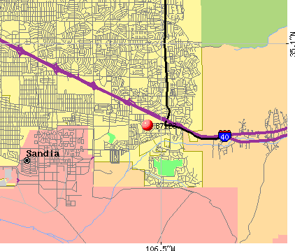 Albuquerque, NM (87123) map
