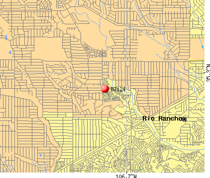 Rio Rancho, NM (87124) map