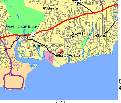 West Sayville, NY (11796) map