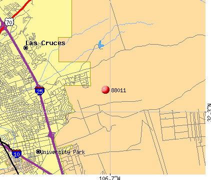 Las Cruces, NM (88011) map