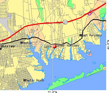 Center Moriches, NY (11934) map