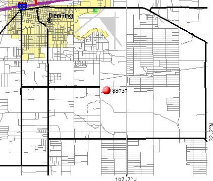 Deming, NM (88030) map