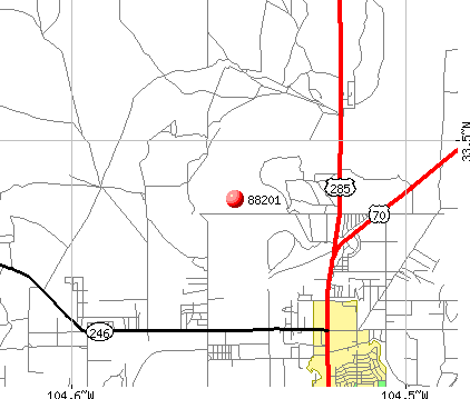 Roswell, NM (88201) map