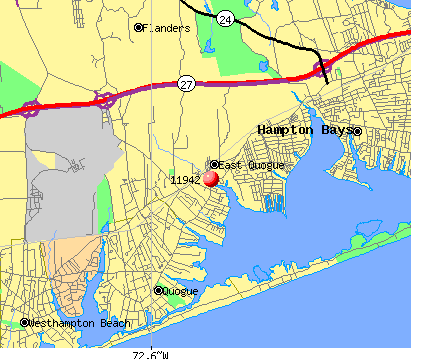 East Quogue, NY (11942) map
