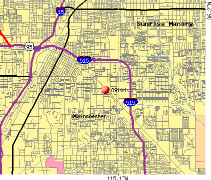 Las Vegas, NV (89104) map