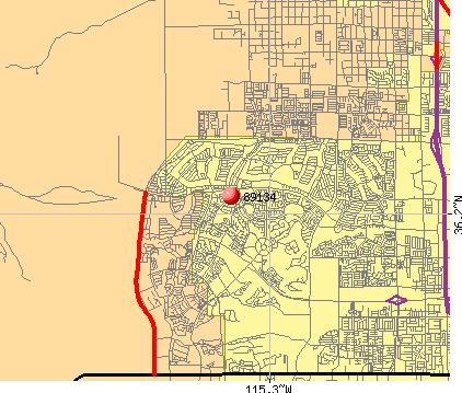 Las Vegas, NV (89134) map