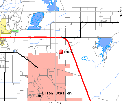 Fallon, NV (89406) map
