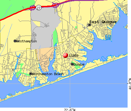 Quogue, NY (11959) map