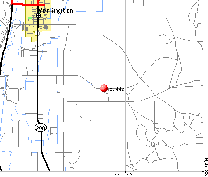 Yerington, NV (89447) map