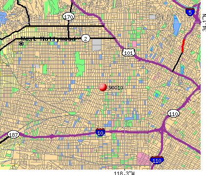 Los Angeles, CA (90010) map