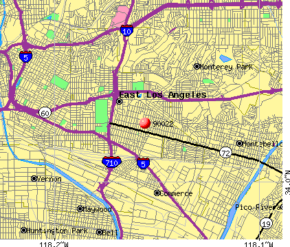 East Los Angeles, CA (90022) map