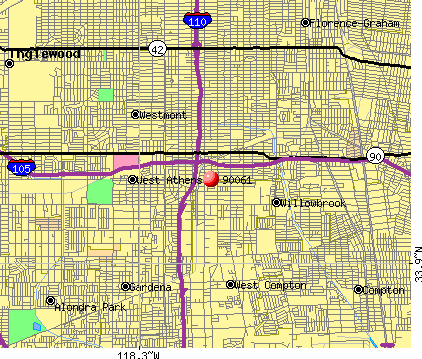Willowbrook, CA (90061) map
