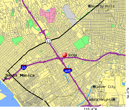 Los Angeles, CA (90064) map