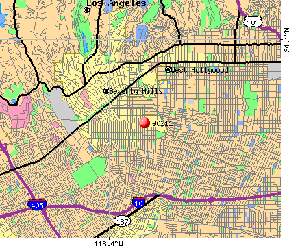 Beverly Hills, CA (90211) map