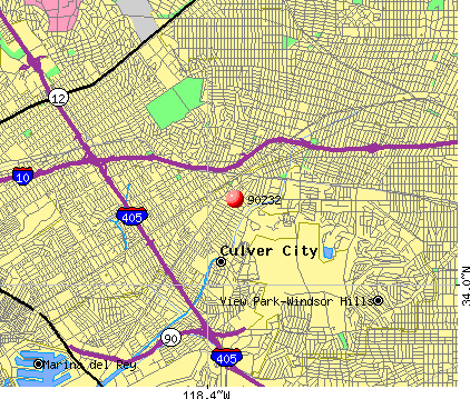 Culver City, CA (90232) map