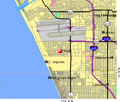 El Segundo, CA (90245) map